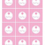 Free Pink And Purple (Girl) Birthday Printables From Green Apple   Free Printable Thank You Tags For Birthday Favors
