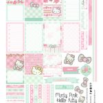 Free Planner Printable: Mint Green & Pink Hello Kitty | Hello Kitty   Hello Kitty Labels Printable Free