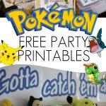 Free Pokemon Party Printables | Pokémon Party | Pokemon Party   Free Printable Pokemon Thank You Tags