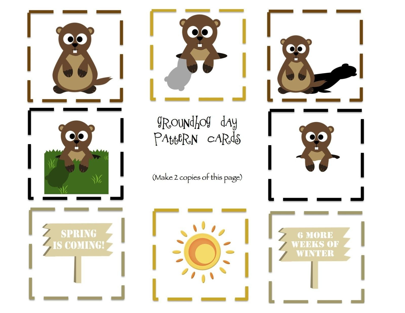 Free Preschool Printables: Groundhog Day Theme | Jan And Feb School - Free Groundhog Printables Preschool