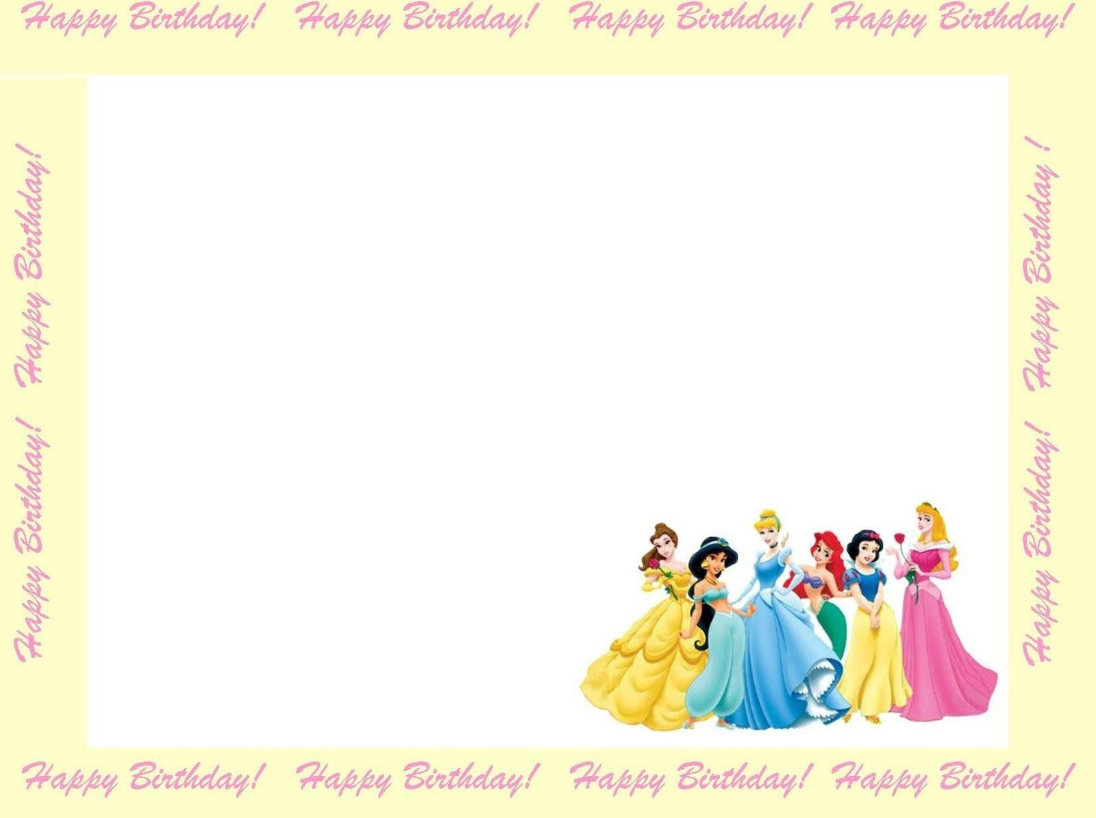 Free Princess Invitations To Print | Free Printable Disney Princess - Free Printable Princess Invitation Cards