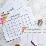 Free Printable 2017 Monthly Calendar And Weekly Planner   Free Printable Agenda 2017