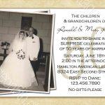 Free Printable 50Th Wedding Anniversary Invitation Templates   Free 50Th Anniversary Printables