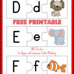 Free Printable Abc Puzzles | School Is Fun | Letter Matching, Upper   Free Printable Alphabet Puzzles