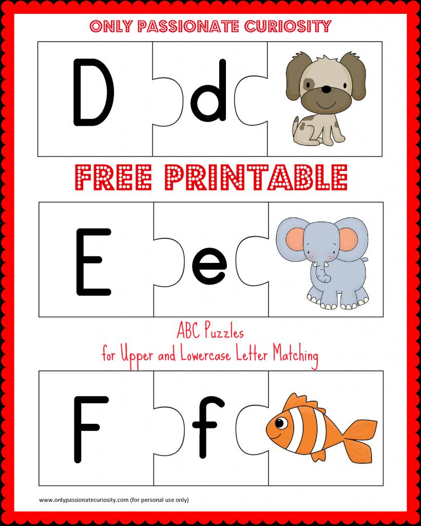 Free Printable Abc Puzzles | School Is Fun | Letter Matching, Upper - Free Printable Alphabet Puzzles