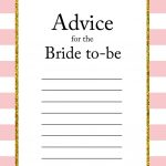 Free Printable Advice For The Bride To Be Cards | Friendship | Bride   Free Printable Advice Cards For Baby Shower Template