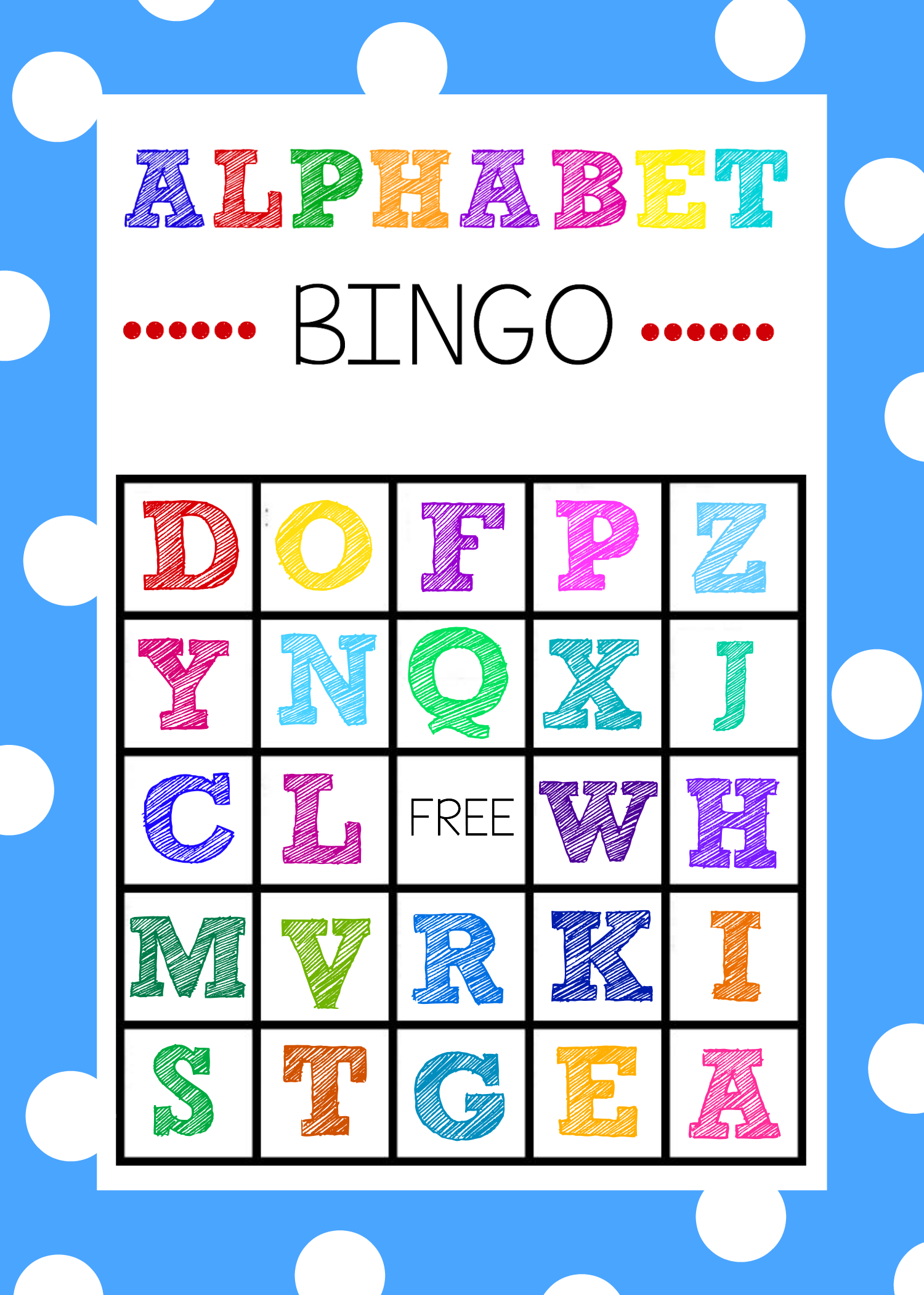 Free Printable Alphabet Bingo Game - Free Printable Bingo Games