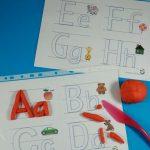 Free Printable Alphabet Playdough Mats   Kidz Activities | Speech   Alphabet Playdough Mats Free Printable