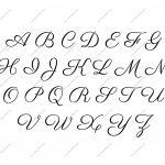 Free Printable Alphabet Stencil Letters Template | Diy | Free   Free Printable Calligraphy Letter Stencils