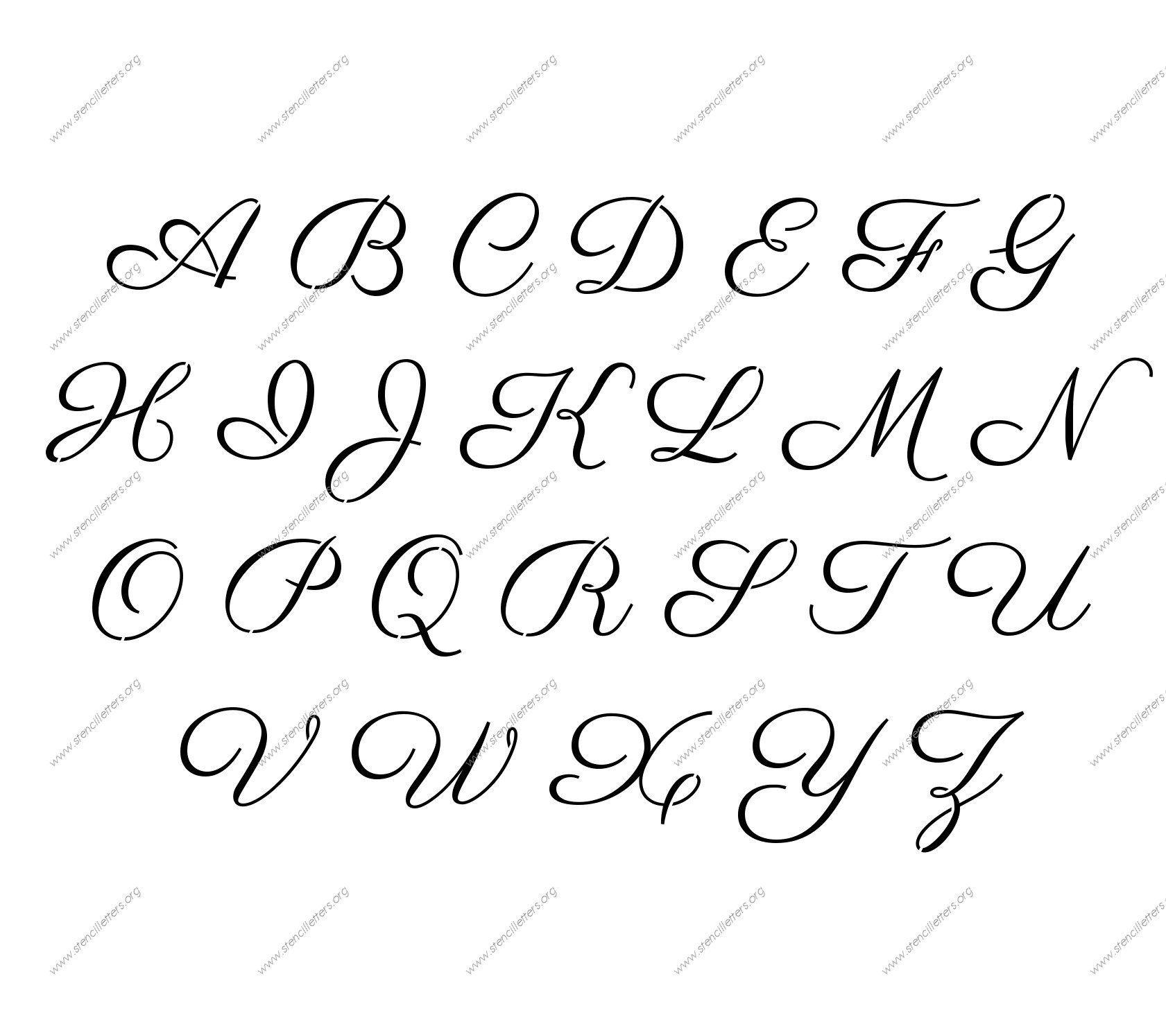 Free Printable Alphabet Stencil Letters Template | Diy | Free - Free Printable Calligraphy Letter Stencils