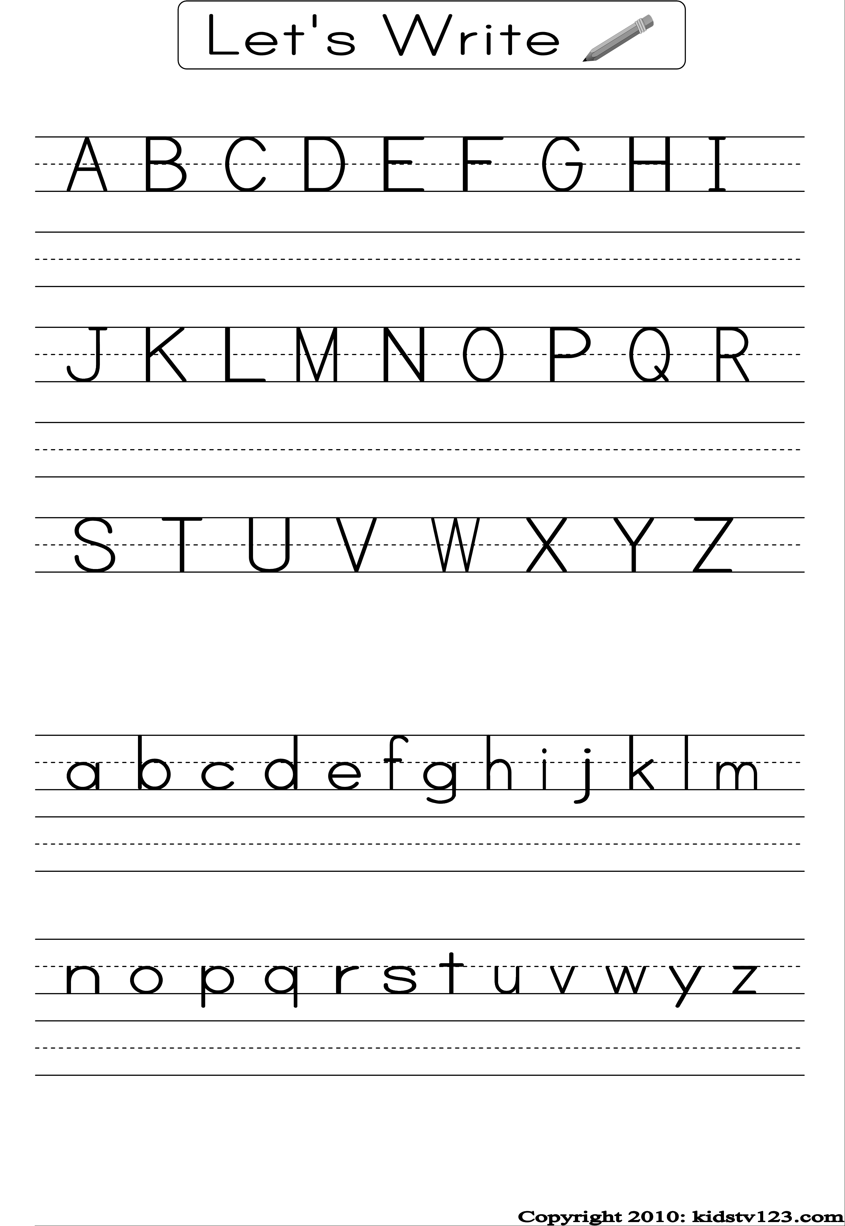Free Printable Alphabet Worksheets, Preschool Writing And Pattern - Free Printable Abc Worksheets