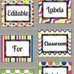 Free Printable And Editable Labels For Classroom | Classroom   Free Printable Preschool Job Chart Pictures