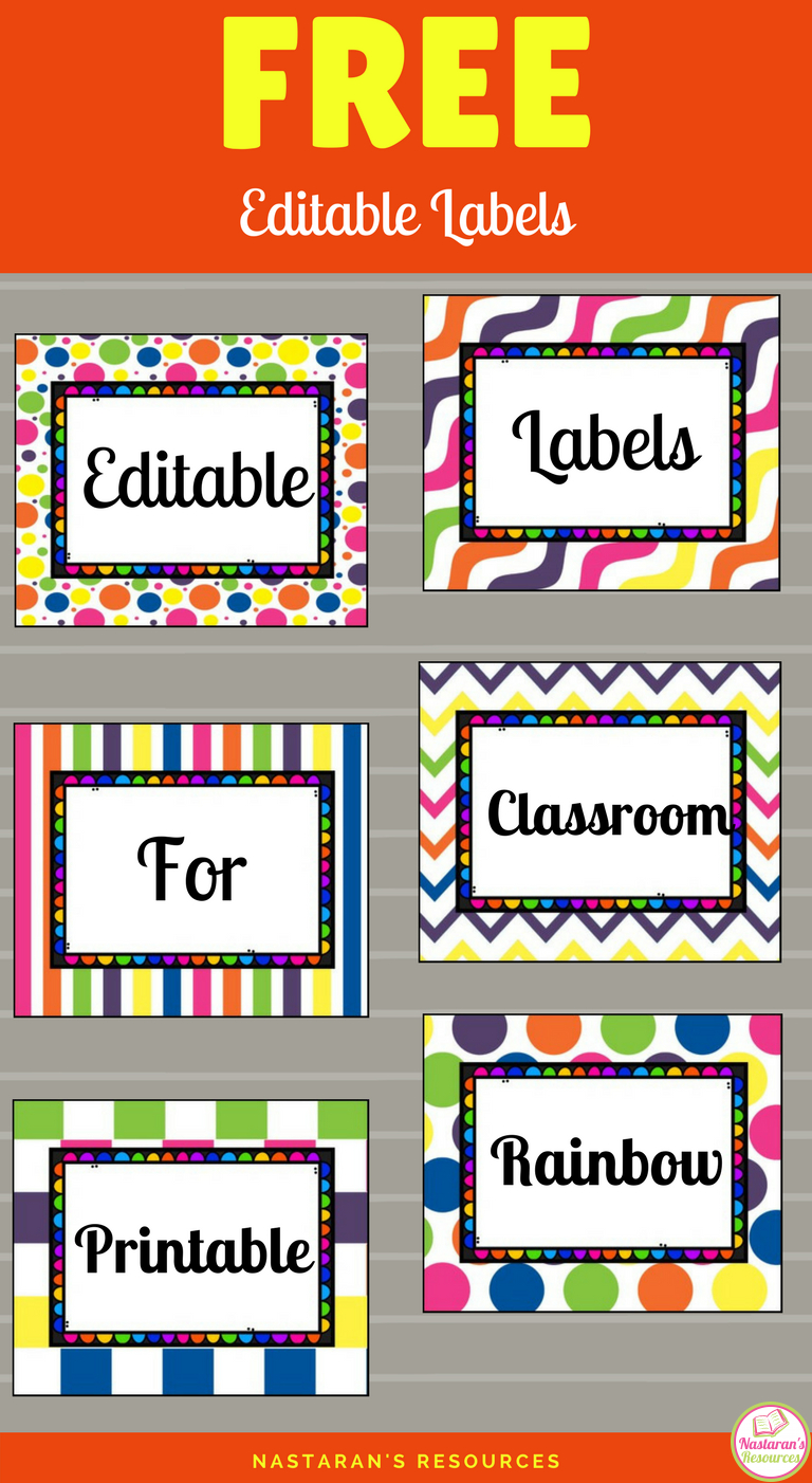Free Printable And Editable Labels For Classroom | Classroom - Free Printable Preschool Job Chart Pictures