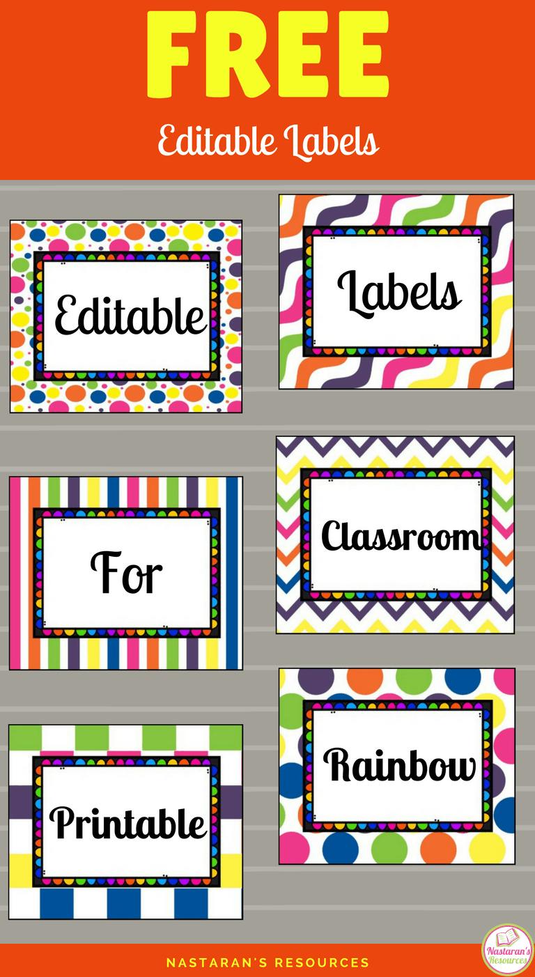 Free Printable And Editable Labels For Classroom | Classroom - Preschool Classroom Helper Labels Free Printable
