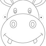 Free Printable Animal Masks Templates | Hippo Mask Printable   Giraffe Mask Template Printable Free