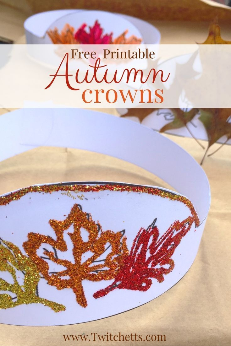 Free Printable Autumn Crown For Fall Dress Up | Fall Craft Ideas For - Free Printable Fall Crafts For Kids