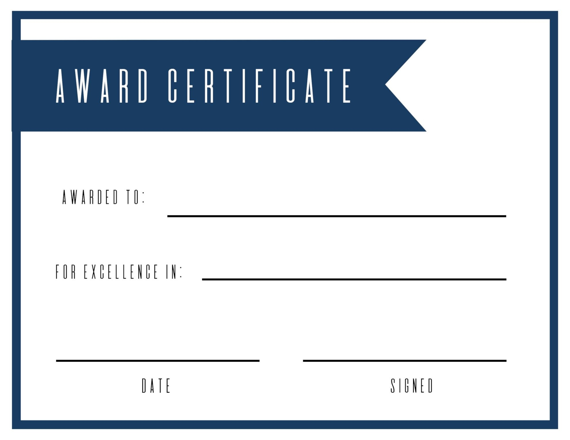 Free Printable Award Certificate Template - Paper Trail Design - Sports Certificate Templates Free Printable
