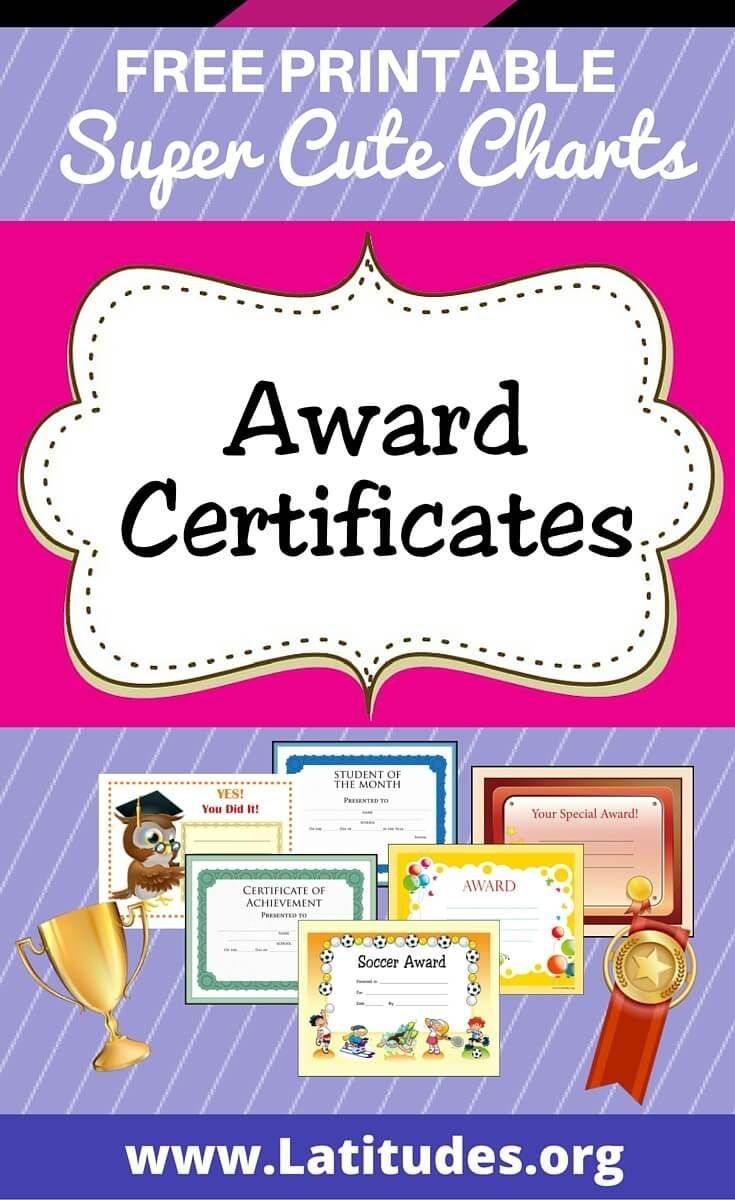 Free Printable Award Certificates For Kids | Awards/certificates For - Free Printable Awards