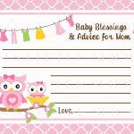 Free Printable Baby Advice Cards. Request A Custom Order And Have   Free Printable Baby Shower Advice Cards