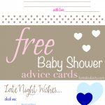 Free Printable Baby Shower Advice & Best Wishes Cards   Fantabulosity   Free Printable Advice Cards For Baby Shower Template