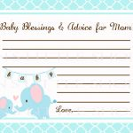 Free Printable Baby Shower Advice Cards   Printable Cards   Free Printable Advice Cards For Baby Shower Template