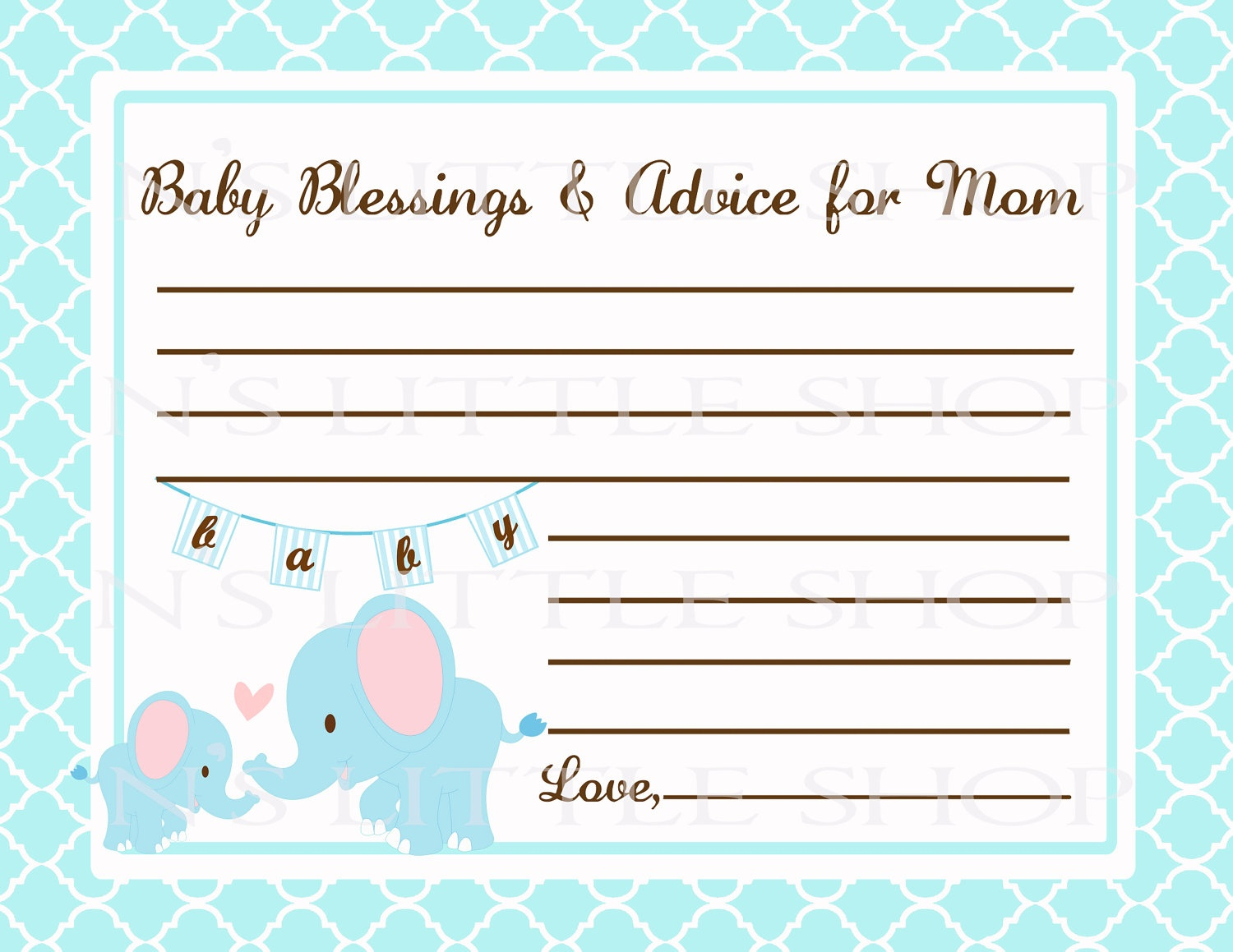 Free Printable Baby Shower Advice Cards - Printable Cards - Free Printable Advice Cards For Baby Shower Template