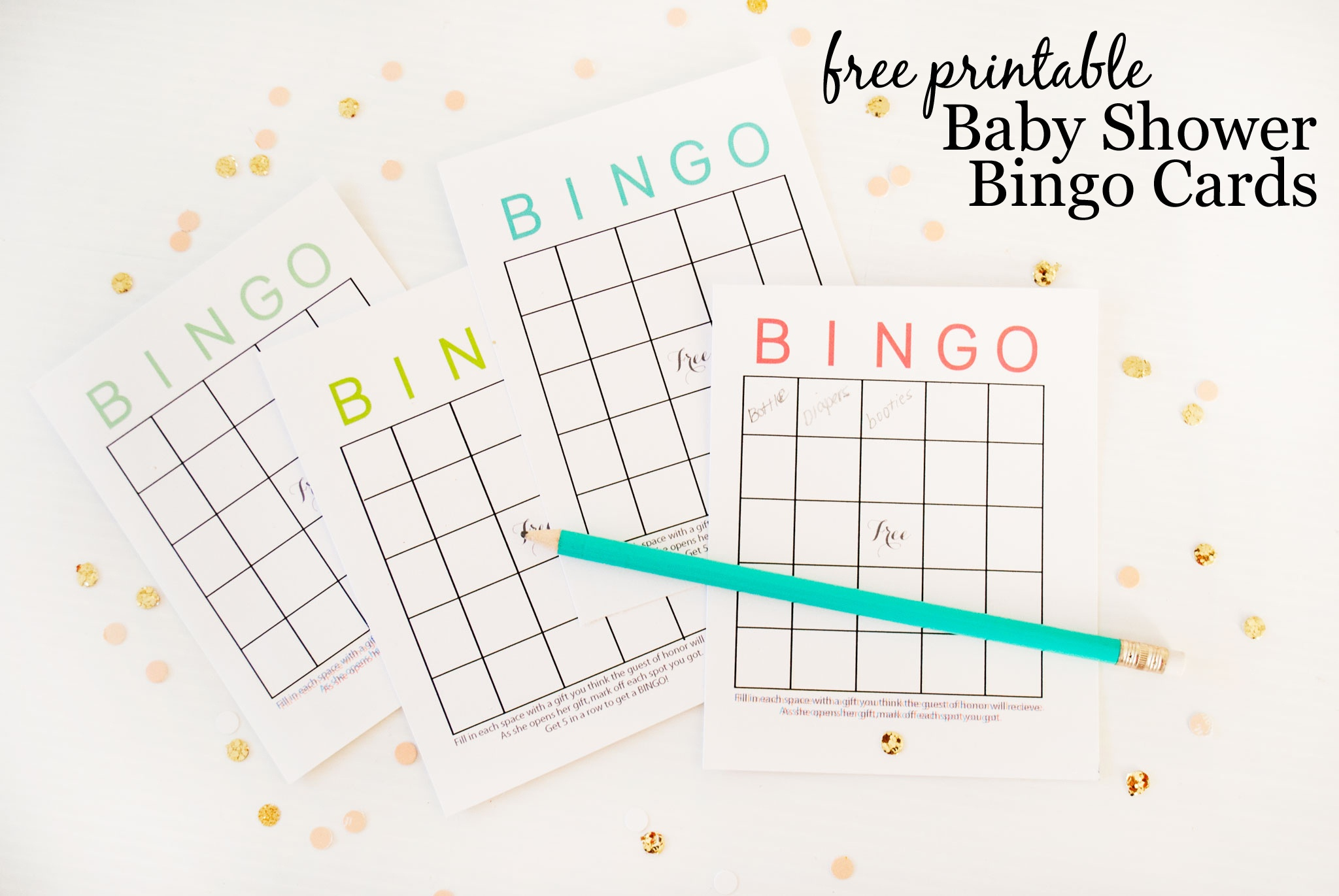 Free Printable Baby Shower Bingo Cards - Project Nursery - Printable Baby Shower Bingo Games Free