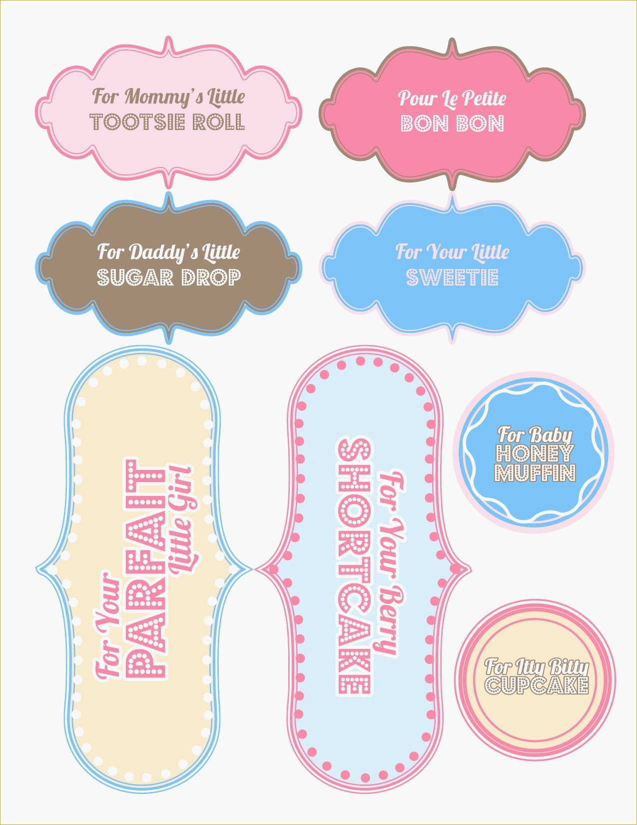 Free Printable Baby Shower Favor Tags Template Brochure Templates - Free Printable Baby Shower Gift Tags
