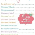 Free Printable Baby Shower Games Who Knows Mommy The Best | Gender   Who Knows Mommy Best Free Printable