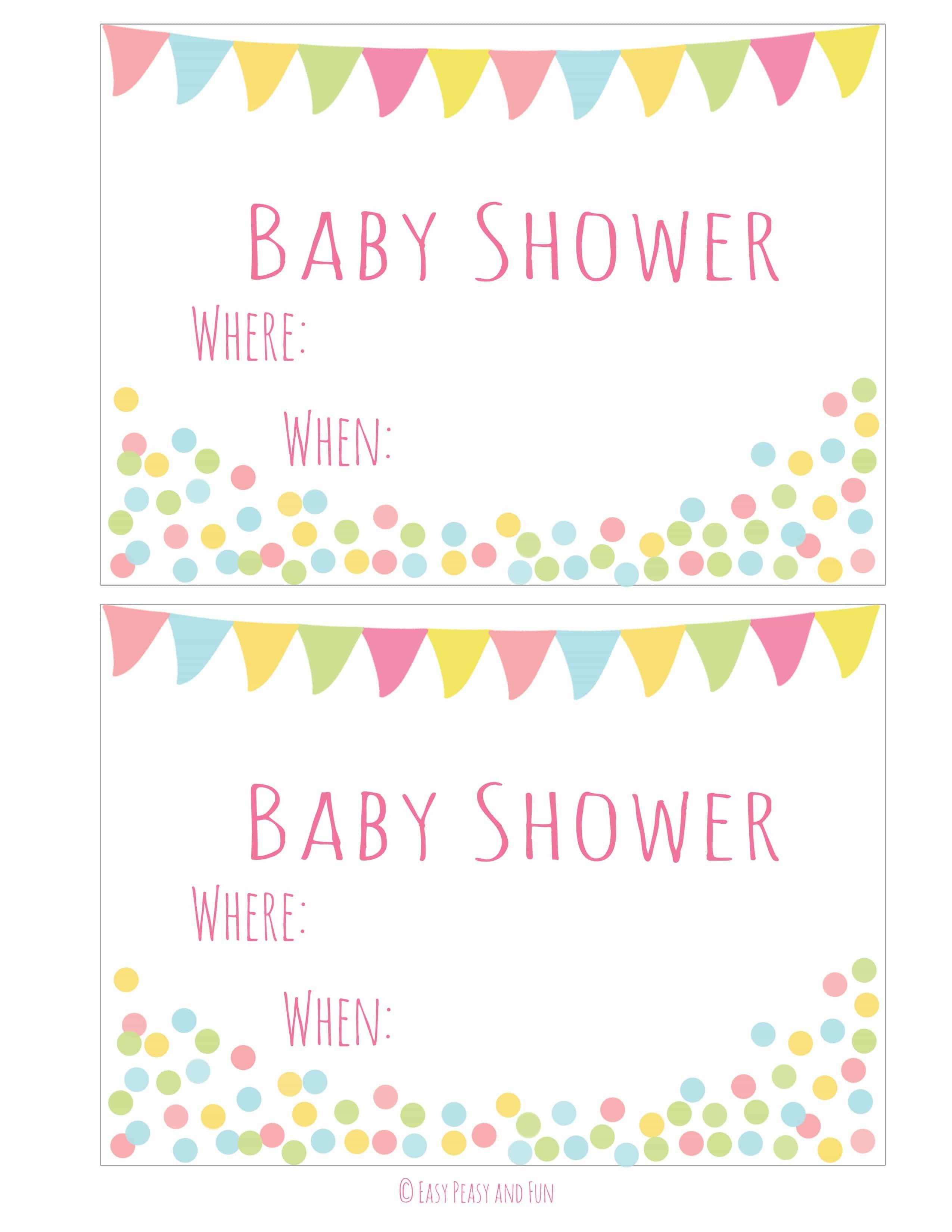 Free Printable Baby Shower Invitation - Easy Peasy And Fun - Baby Invitations Printable Free