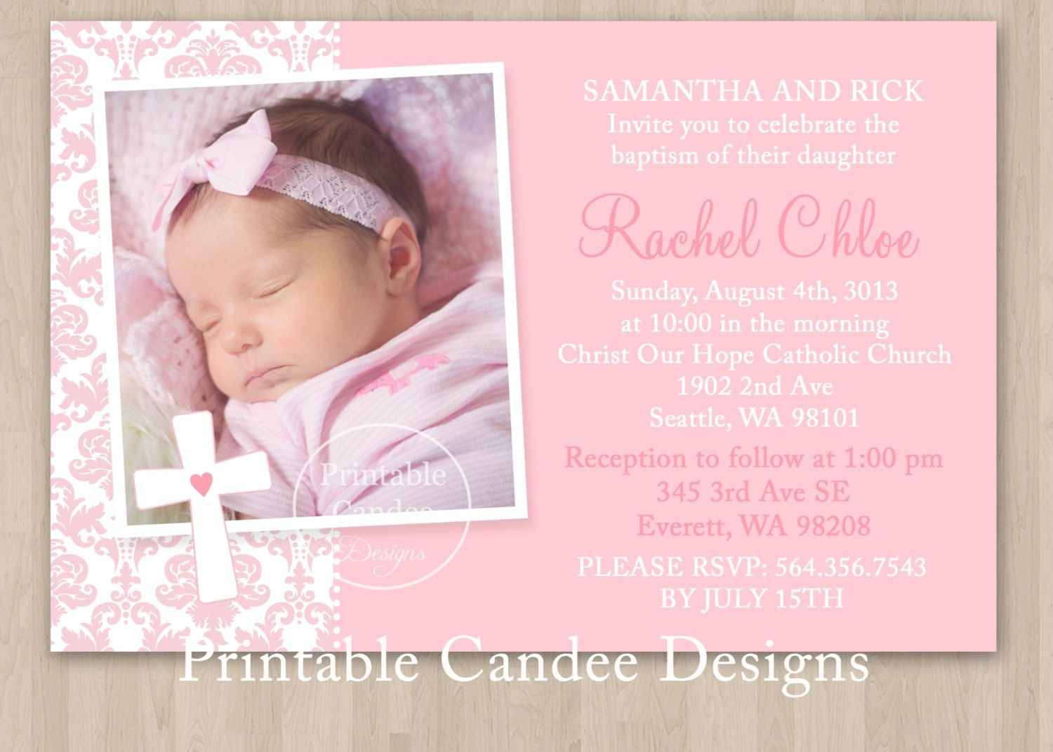 Free Printable Baptism Invitations | Chivito's Bautizo | Christening - Free Printable Personalized Baptism Invitations