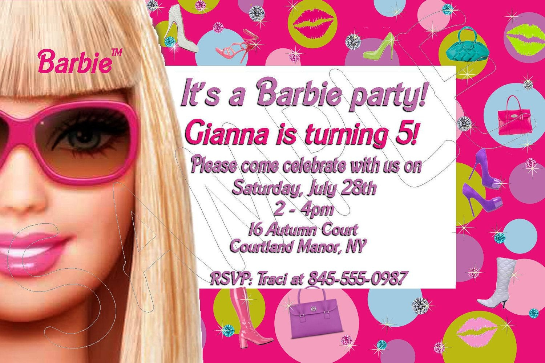 Free Printable Barbie Birthday Invitations | Kids Party Ideas - Free Printable Barbie Birthday Party Invitations