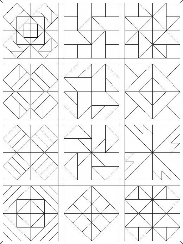 Free Printable Barn Quilt Patterns 18 - Voaac.co.uk - Free Printable Barn Quilt Patterns