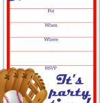 Free Printable Baseball Party Invitation | Party Printables   Free Printable Baseball Ticket Birthday Invitations
