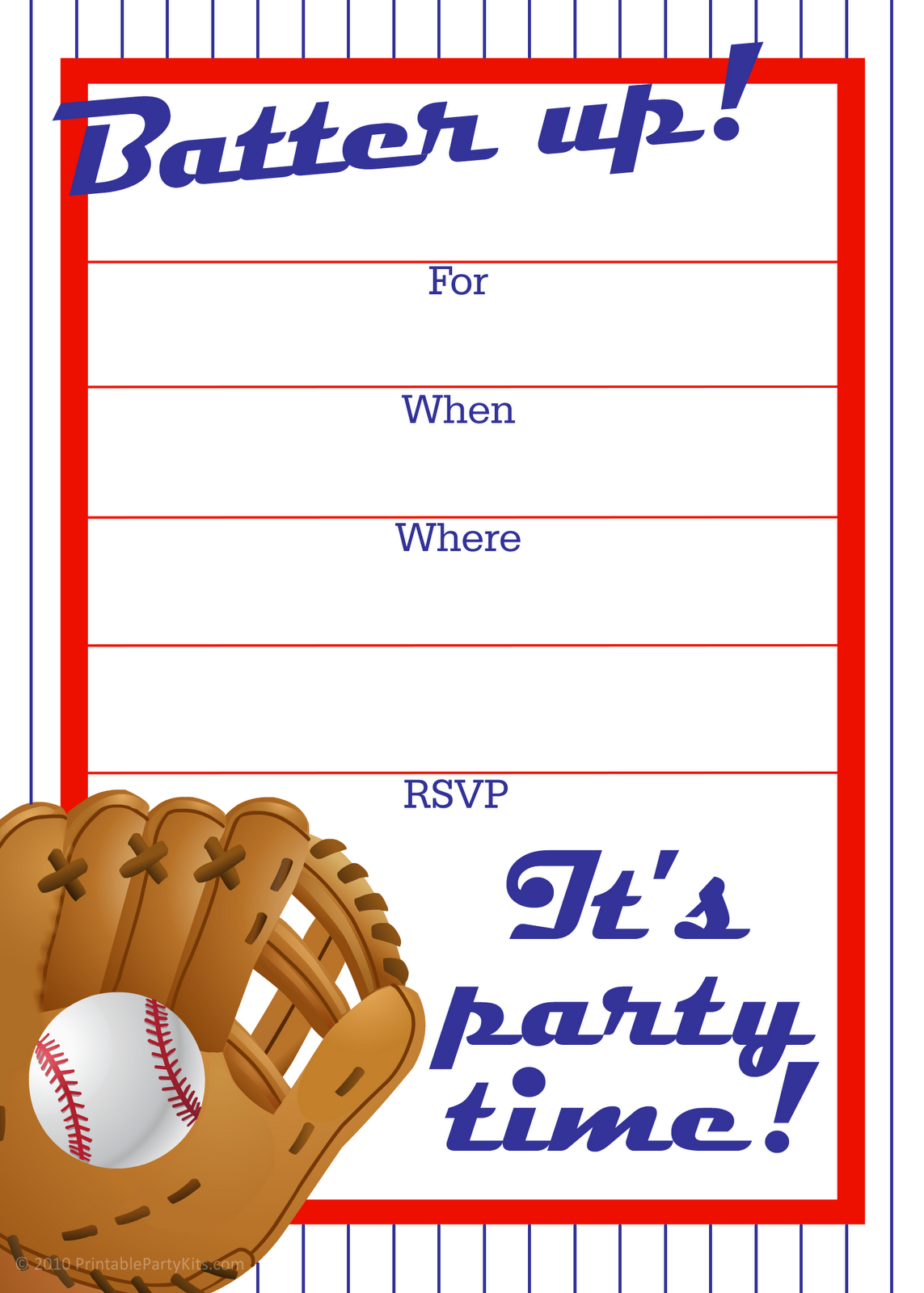 Free Printable Baseball Party Invitation | Party Printables - Free Printable Baseball Ticket Birthday Invitations