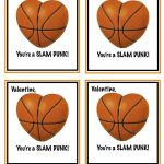 Free Printable Basketball Valentines | Valentines | Valentines For   Free Printable Basketball Cards