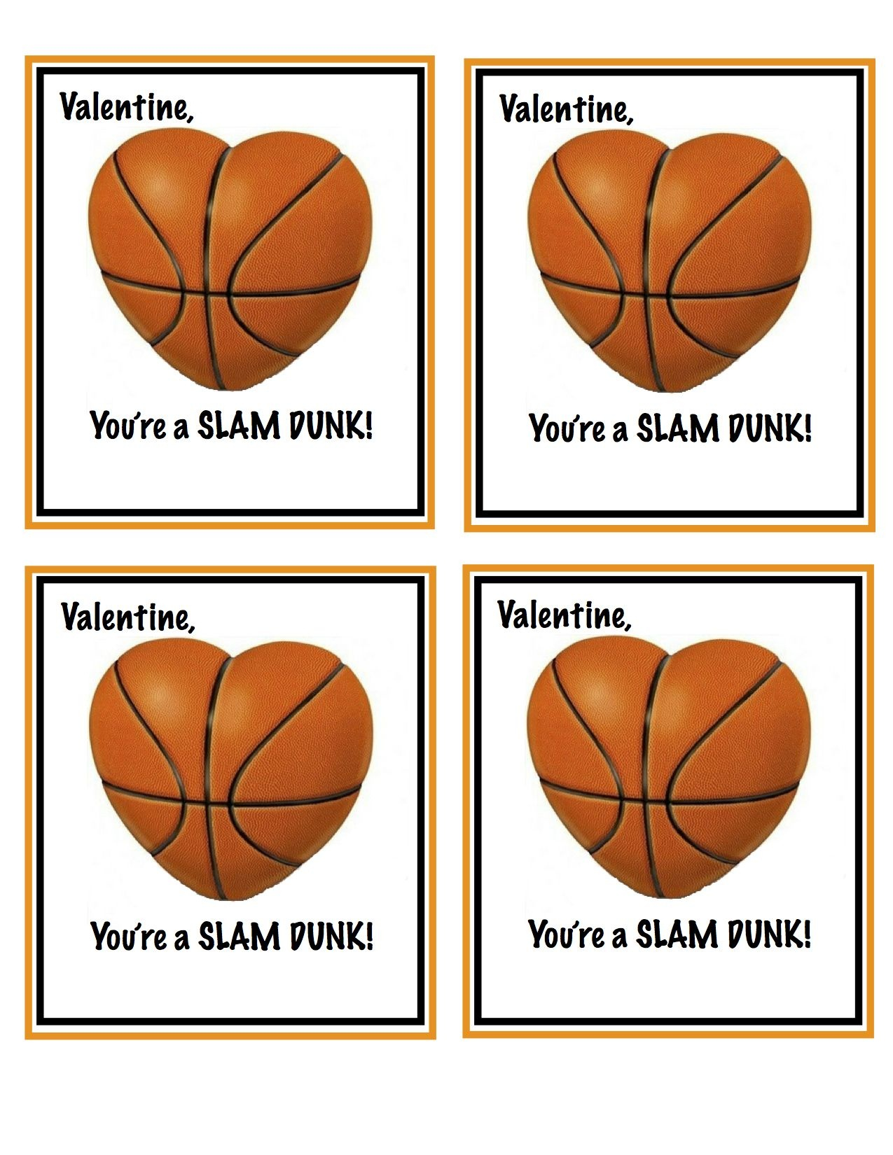 Free Printable Basketball Valentines | Valentines | Valentines For - Free Printable Basketball Cards
