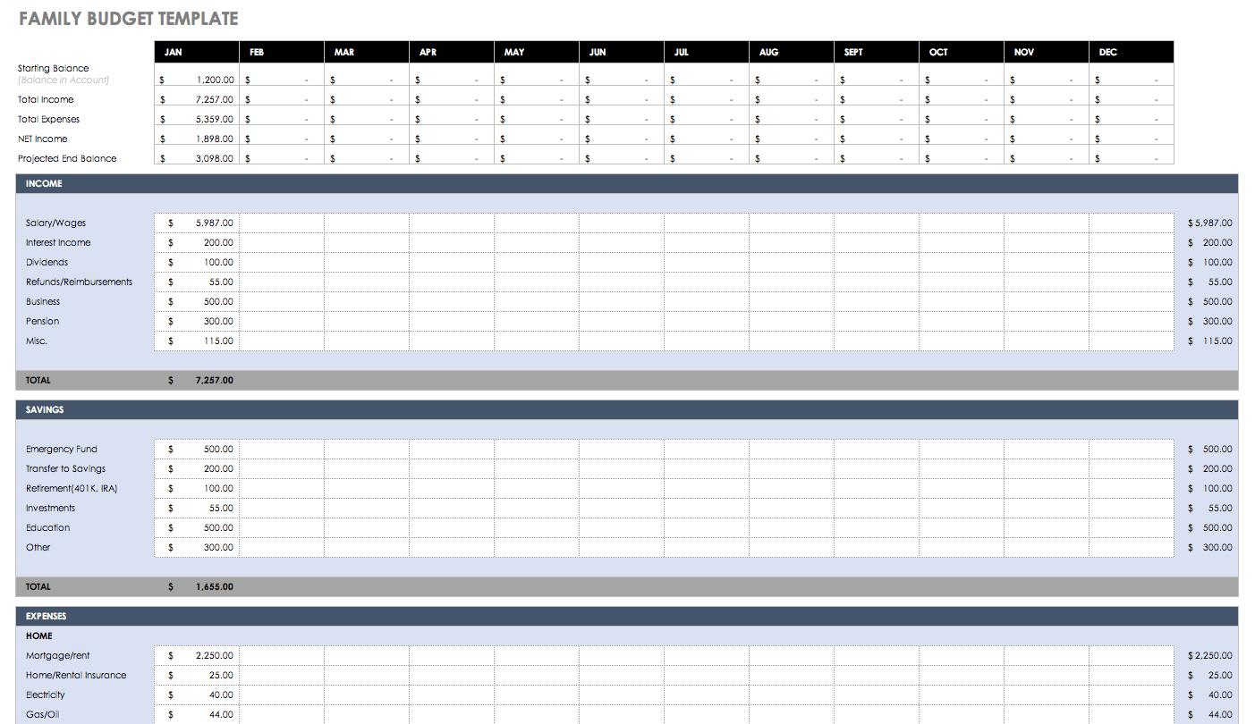 Free Printable Bi Weekly Budget Et Student Worksheet Template | Smorad - Free Printable Spreadsheet