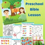 Free Printable Bible Lesson For Preschool Children. Teaching The   Free Printable Bible Crafts For Preschoolers
