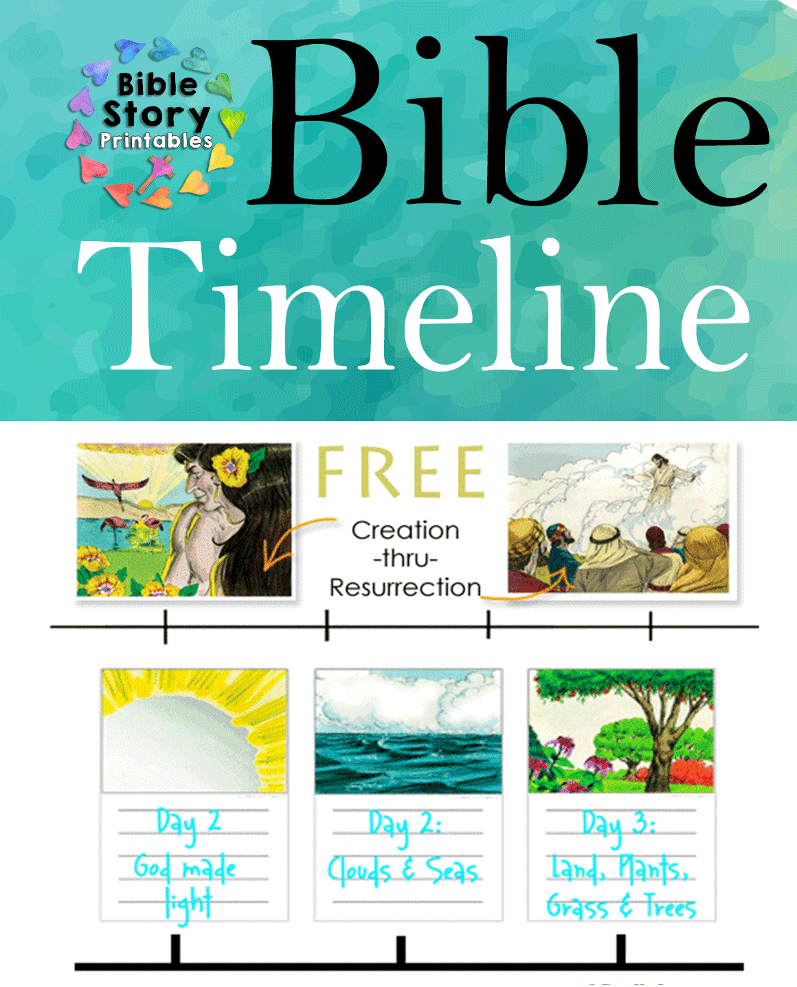 Free Printable Bible Timeline & 200 Cards - Free Printable Bible Stories For Youth