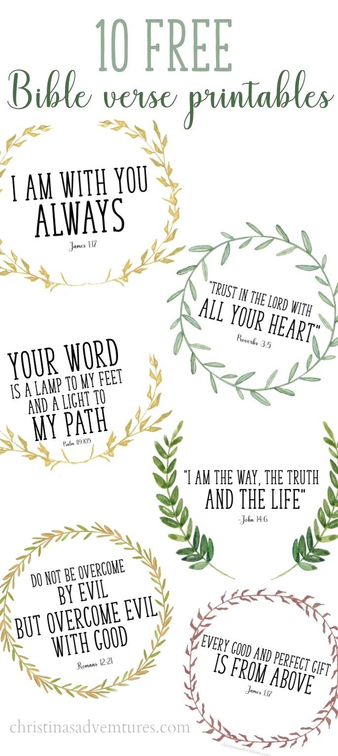 Free Printable Bible Verses - Christinas Adventures - Free Scripture Printables