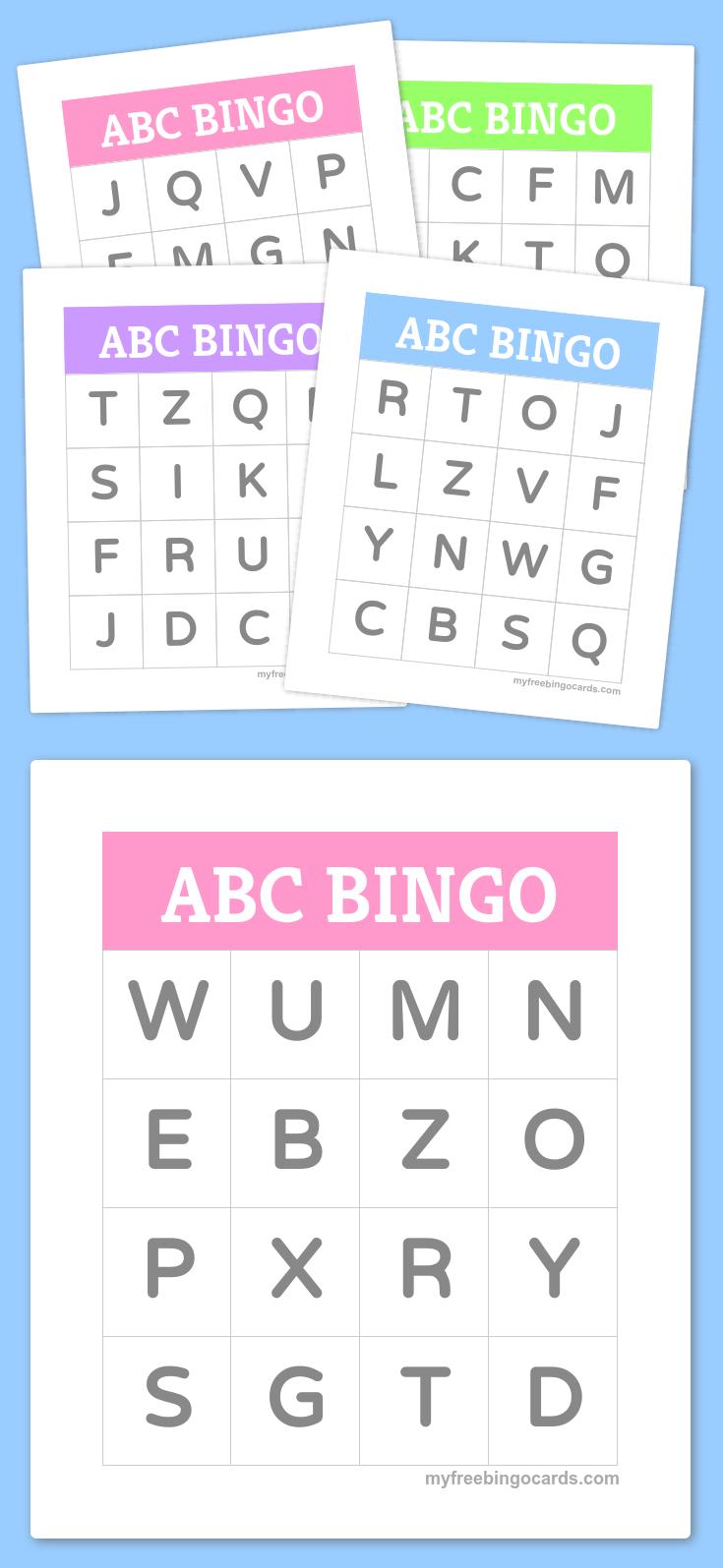 Free Printable Bingo Cards | Homeschool Ideas | Alphabet Bingo - Free Printable Spanish Bingo Cards