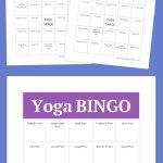 Free Printable Bingo Cards | Yoga Poses | Free Bingo Cards, Free   Free Bingo Patterns Printable