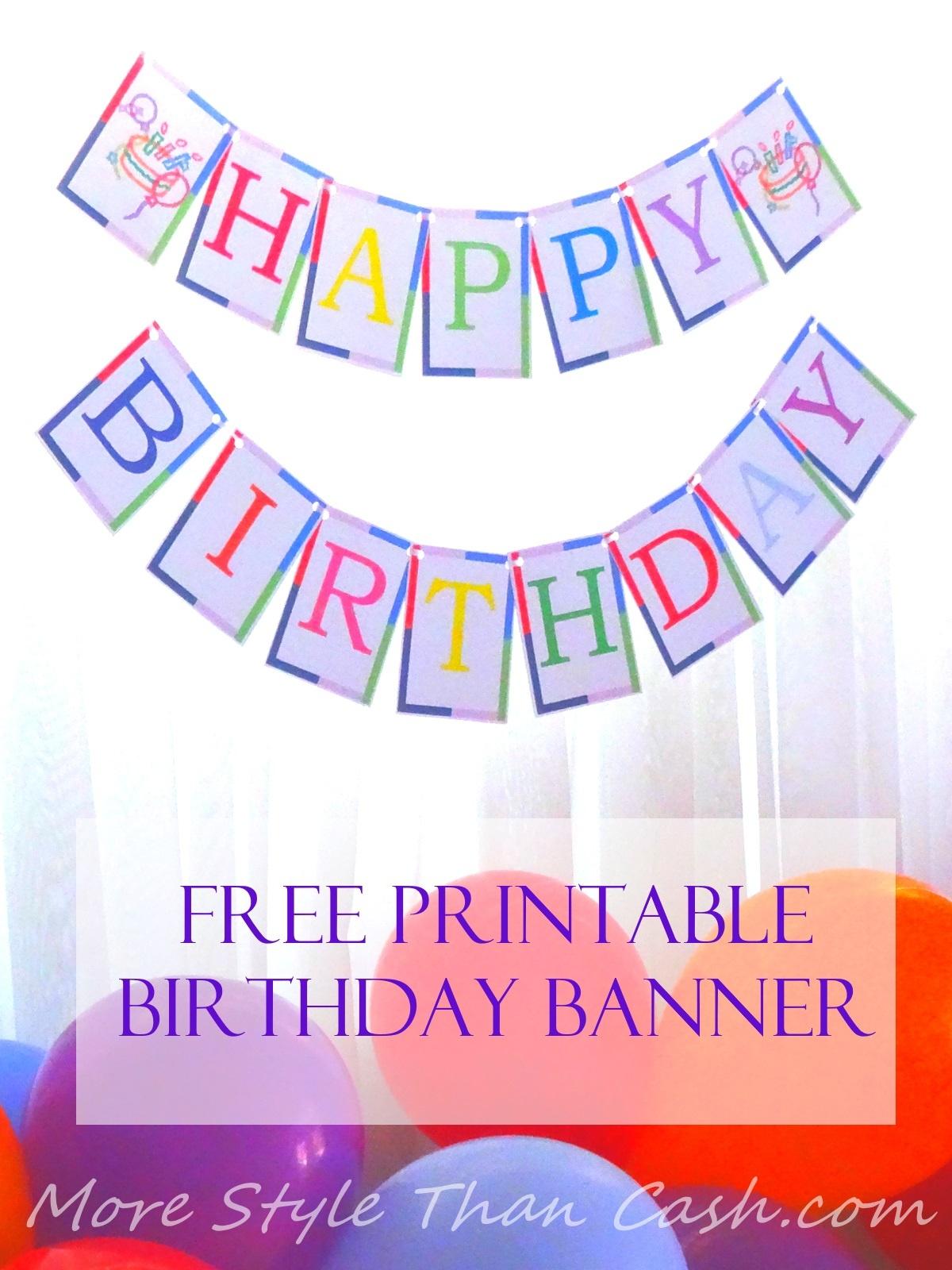 Free Printable Birthday Banner - Free Happy Birthday Banner Printable Pdf