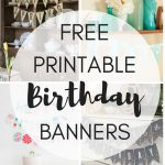 Free Printable Birthday Banners   The Girl Creative   Free Printable Cake Banner Templates