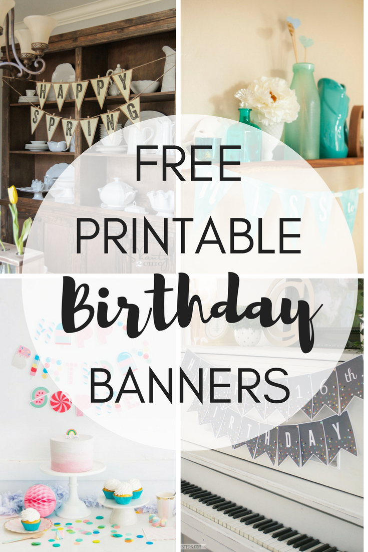 Free Printable Birthday Banners - The Girl Creative - Free Printable Cake Banner Templates