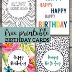 Free Printable Birthday Cards | Birthday Cards | Free Printable   Free Printable Birthday Cards For Adults