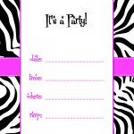 Free Printable Birthday Invitation Templates Online – Invitetown   Free Printable Zebra Print Birthday Invitations