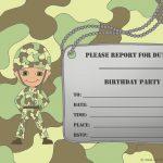 Free Printable Birthday Invitations For Boy   New Birthday Card   Free Printable Camouflage Birthday Cards