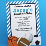 Free Printable Birthday Invitations For Boys Sports | Jamie's 13Th   Free Printable Baseball Ticket Birthday Invitations